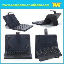 universal keyboard leather case for ipad , pu leather case with touch keyboard