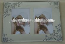 novo design duas foto moldura de seda moldura de vidro com lavagem de superfície