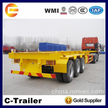 China Factory Good Quality 3 axle 40ft skeleton semi trailer container chassis