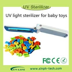 Portable baby toy ultraviolet light sterilizer