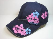Digital printing flower navy baseball cap cheap baseball caps