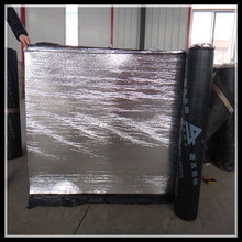 torch applied polyester reinforced SBS modified bituminous flat roofing underlayment waterproof membrane with aluminum foil