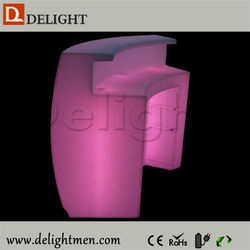 Commercial furniture outdoor ip65 glowing 16 color wireless control retail bar counters for sale with battery power