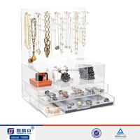 elegant design wholesale attractive counter top acrylic earring display case
