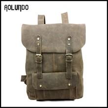 Retro crazy horse leather men vintage backpack