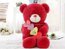Good quality promotional pure valentine plush bear
