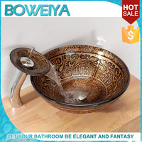 Buy Rectangular French Style Glass Sinks For School Bathrooms