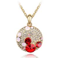 2014 wholesale jewelry swarovski element happy mickey gold necklace