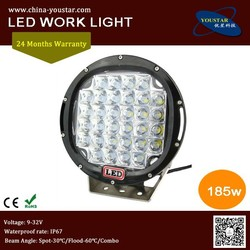 Factory direct 9 inch round motorcycle 185w 15000lm 12v auto car led driving lights