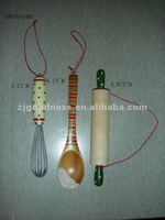 GOOD SALE 3 Asst. Hand Crafted Treenware, Wood Cooking Utensils