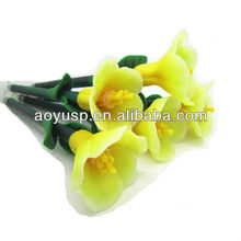Camellias Flower polymer clay pen promotional flower ball pen gift pen