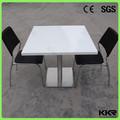 複合石ファーストフードのレストランのテーブルと椅子