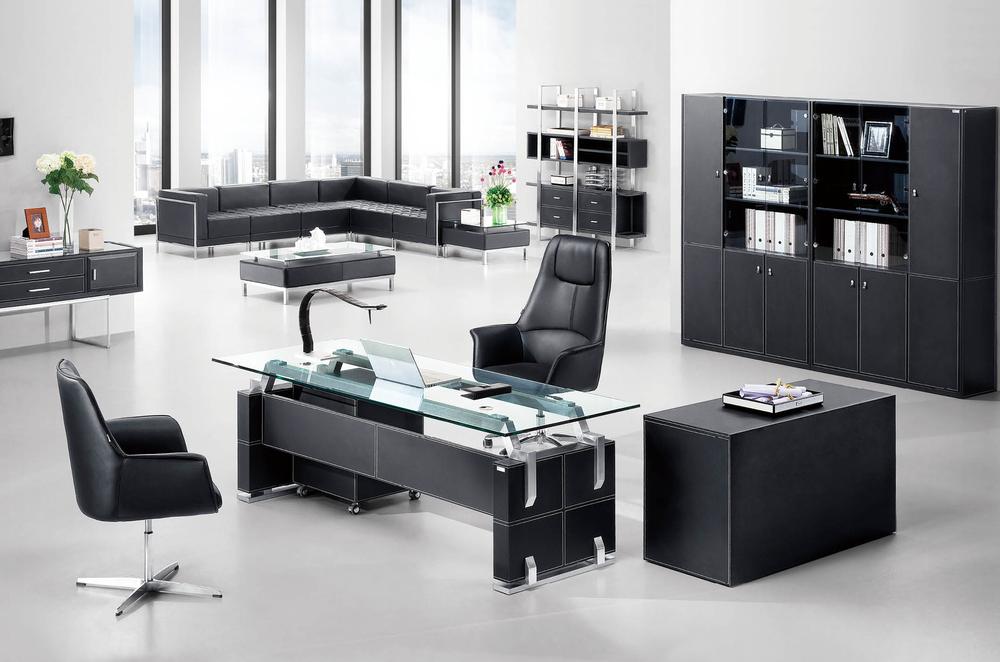tempered glass office desk. F-06.jpg Tempered Glass Office Desk E