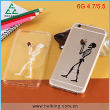 Skull TPU Soft Case For iPhone 6, For iPhone 6 Thin Funny TPU Case