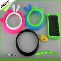 multi-function silicone wrist ring bumper case for iphone/samsung/htc/lg xiaomi huawei rabbit ear phone case bumper