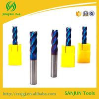 Small carbide cutting tools / high quality 65 HRC 4F-14*D14*100L carbide square end mill