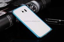 Double color bumper metal bumper for Samsung S6 Edge