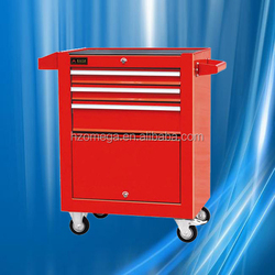 aluminum garage tool box with top tray and wheels