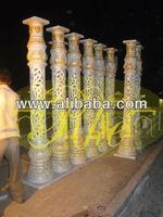 INDIAN CARVED pillar wedding mandap decoration