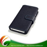 Good Quality Custom-Tailor Elegant Black Leather Flip Cover Case For Iphone 6