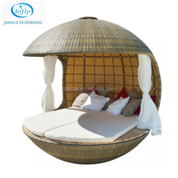 YuXiang wicker furniture outdoor rattan beds for sale