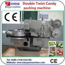 PVC Packing Material Automatic Doubel Twist White Rabbit Creamy Candy Candy Packing Machine