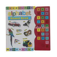 Early education children talking book with sound button of 26 english letter,voice recordable children book