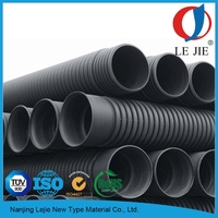 large diameter plastic hdpe perforated corrugated drainage pipe sizes