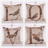 Hot sale latest design LOVE letters cotton linen printed cushion cover wholesale 2015 wedding gift design pattern pillow Case
