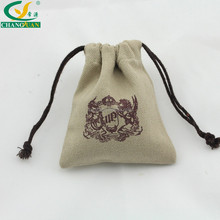 canvas small drawstring jewelry packaging bag