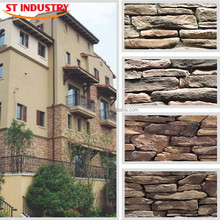 2015 faux landscaping stone cladding tile panels cultured artificial stone production line exterior wall house decorative stone