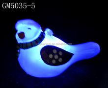 Wholesale LED glass christmas decoration bird