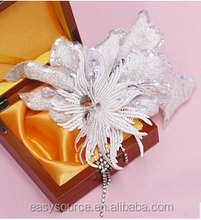 2014 new arrival special for women vintage handmade white rhinestone decoration wedding hair pieces