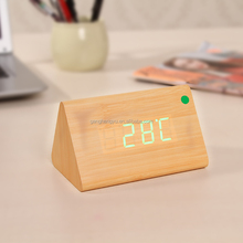 Charging wooden clock,Gift wood clock,timber clock
