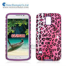 Leopard print cell phone case for Samsung Galaxy S5 I9600with whole sale price