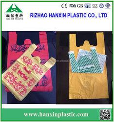 Custom Printed Plastic T Shirt Bag factory for shopping