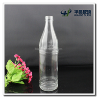500ml round clear glass sparkling water bottle for sale