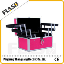 Plum Color Personal Aluminum Beauty Case Brand Jewelry Box