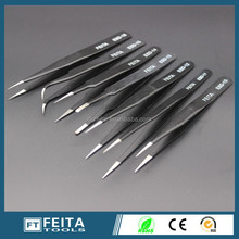 Wholesale prefessional stainless steel tweezers, curved and pointed tweezers