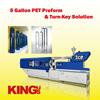 King's Machinery Taiwan Injection Molding Machine - 5 gallon PET preform blue