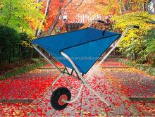 Front Storage Pocket Collapsible Folding Wheelbarrow/ Garden Kart Wheel Barrow Carts /Utility Cart WB0400