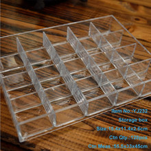 20 compartments PS clear storage plastic tray with dividers