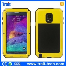 Detachable 3 in 1 design Shockproof Dustproof Silicone + Metal hybrid Case for Samsung Galaxy Note 4 N910