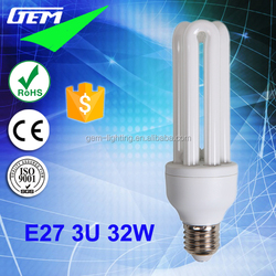 Best Selling 6500K Daylight E27 B22 Economic Energy Saving 3U Lamp 32W
