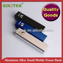 SINOTEK promotional gift 5V 2600mah lipstic power bank\