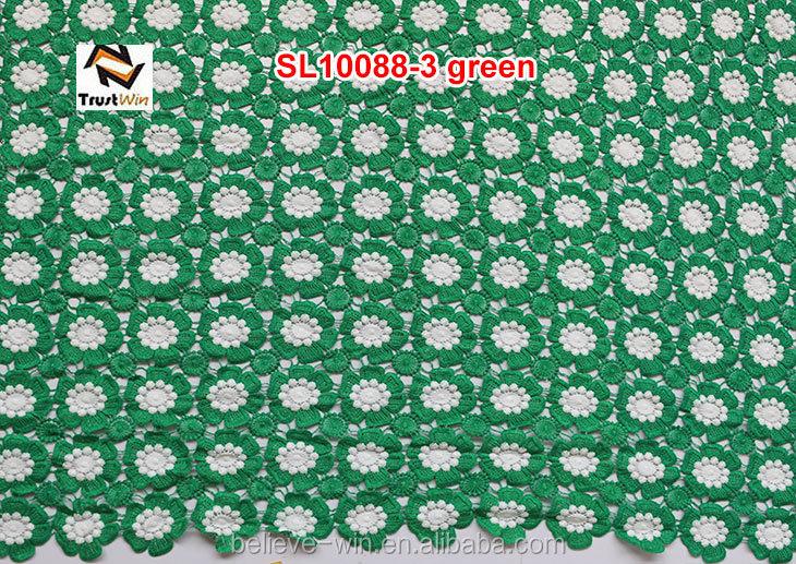 Fashion flower pattern nigeria lace for wedding dress cord lace fabric