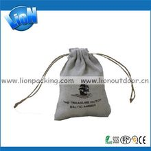 Customized top sell abaca cotton linen drawstring bag