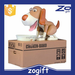 ZOGIFT 2015 wholesale Money Boxes steal money dog eat dog Choi dog box piggy bank for Children