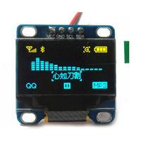 0.96 Inch Yellow and Blue LCD Module I2C IIC Serial 128X64 OLED LCD Display Module for Arduino 51 MSP420 STIM32 SCR