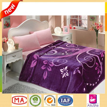Luxury korean black quick easy knitting patterns baby 2 ply mink flannel adult fleece bed sheet set blanket